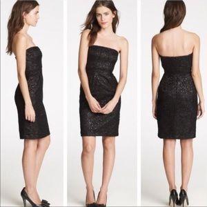 J crew lace strapless dress